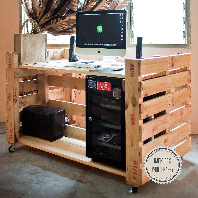 Pallet computer desk pallet office desk diy computer desk diy wooden - My Pallet Desk Pallet Ideas