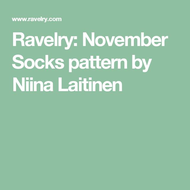 Ravelry: November Socks pattern by Niina Laitinen