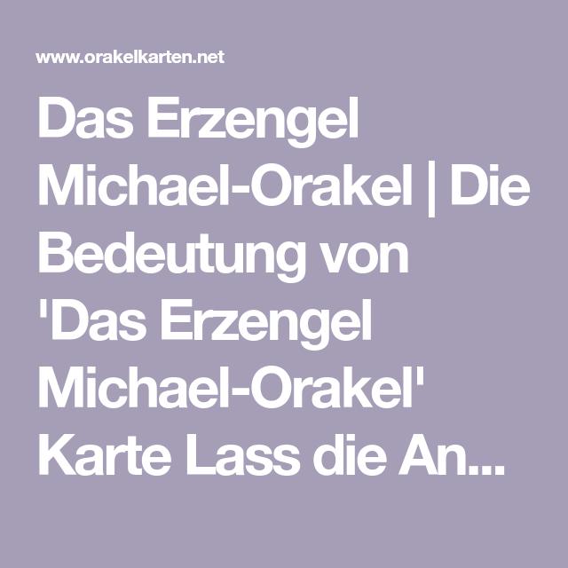 Erzengel Michael Bedeutung