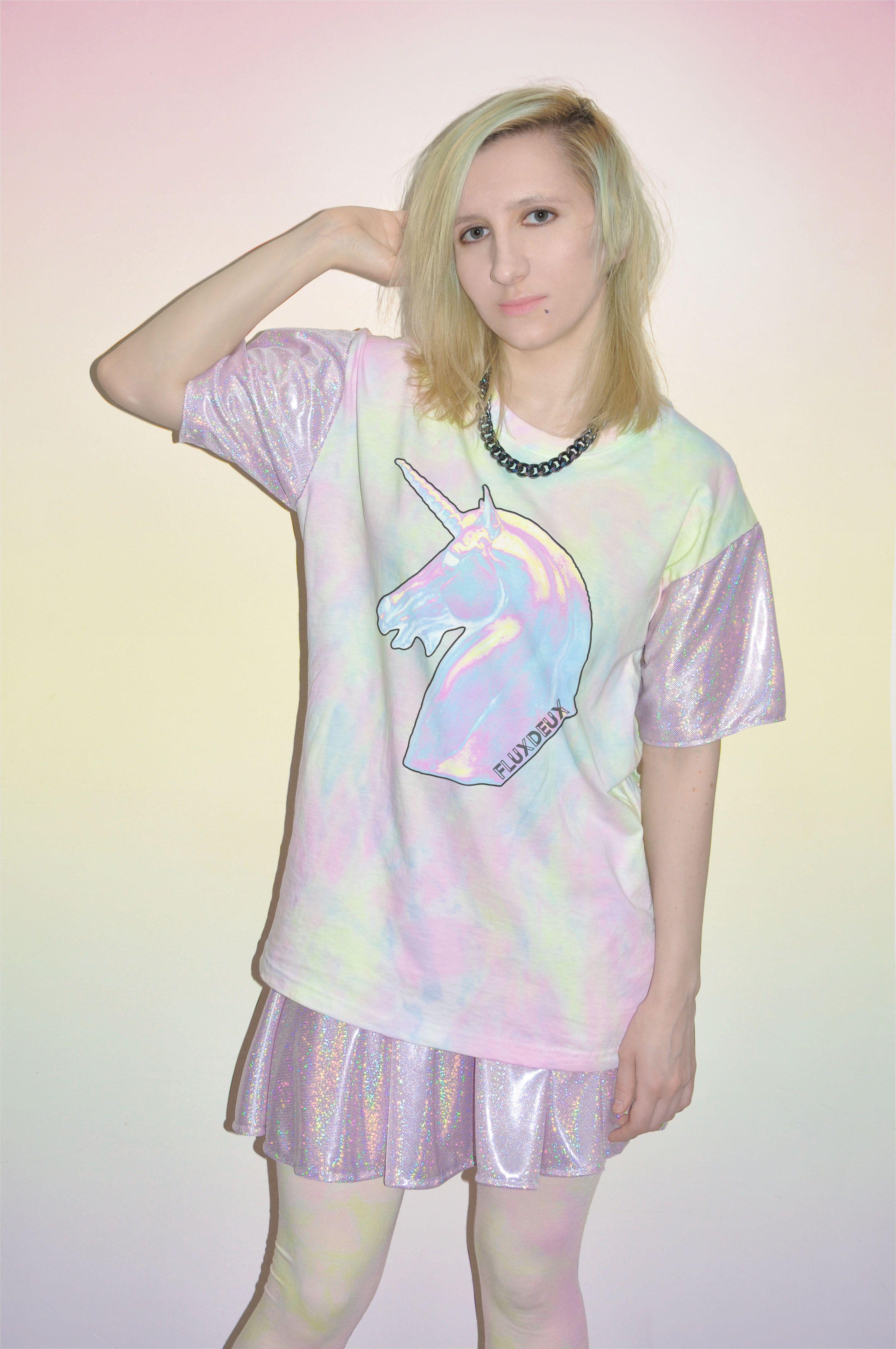 UNICORNS ARE REAL... YOU CAN GET YOURS HERE! #90s #90sfashion #grunge #pastelgrunge #pastelgoth #metallic #unicorn #ss14 #tiedye #kawaii
