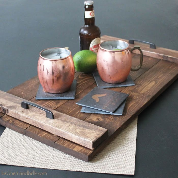 DIY Holiday Gifts - Wooden Serving Tray - Beckham + Belle