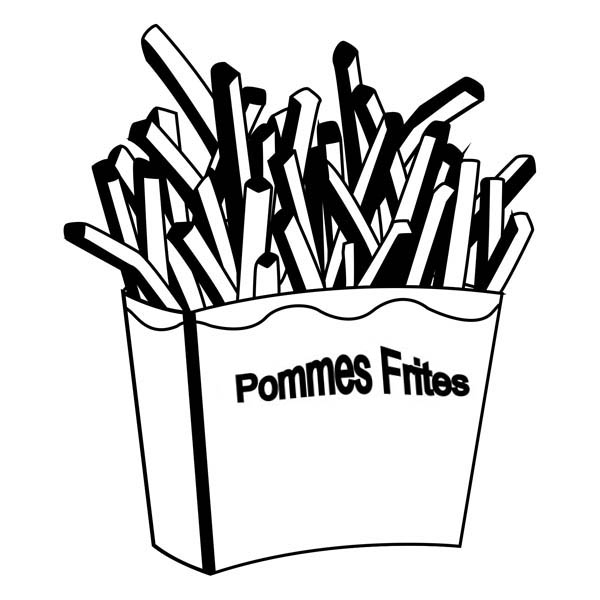 Tasty French Fries Coloring Page Coloring Sky Coloring Pages French Fries Tasty