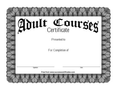 Course Completion Certificate Template    Course Completion