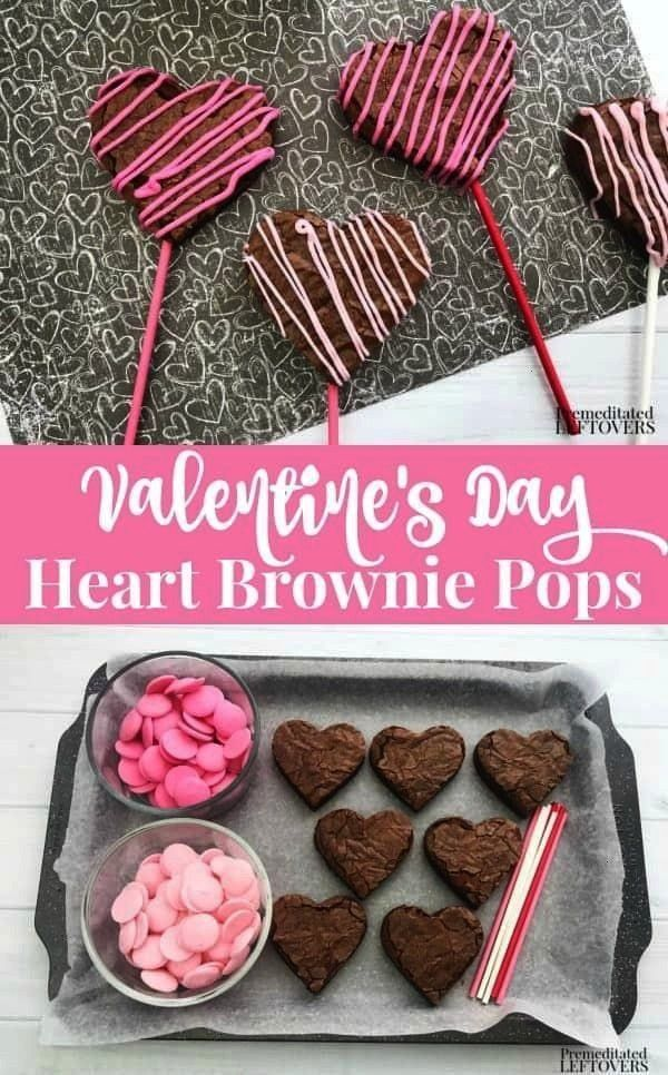 simple this Valentines Day Heart Brownie Pops Recipe is great for dessert, school parties, after-s