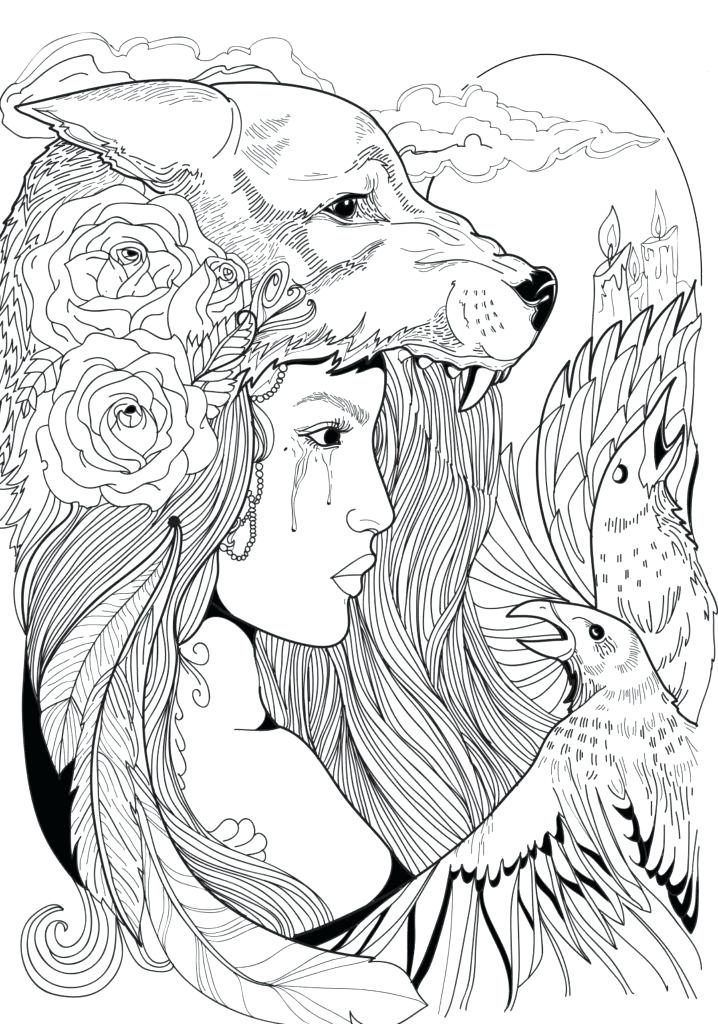 Wolf Coloring Pages for Adults is part of Adult coloring pages, Fairy coloring pages, Free adult coloring pages, Animal coloring pages, Printable adult coloring pages, Printable adult coloring - Wolves are beautiful and powerful creatures, the perfect subject for adults to color  Native Americans saw wolves as a symbol of loyalty and perseverance, intelligence and instinct  If you are drawn to the wolf, maybe you hold some of these same characteristics  It's easy to get quiet and contemplate these symbolisms through coloring  It's a …