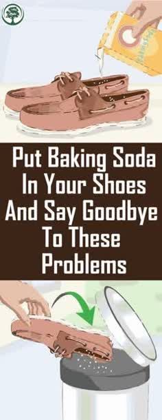 Put Baking Soda In Your Shoes And Say Goodbye To These Problems! #baking #soda ##shoes #see #skintagremedy