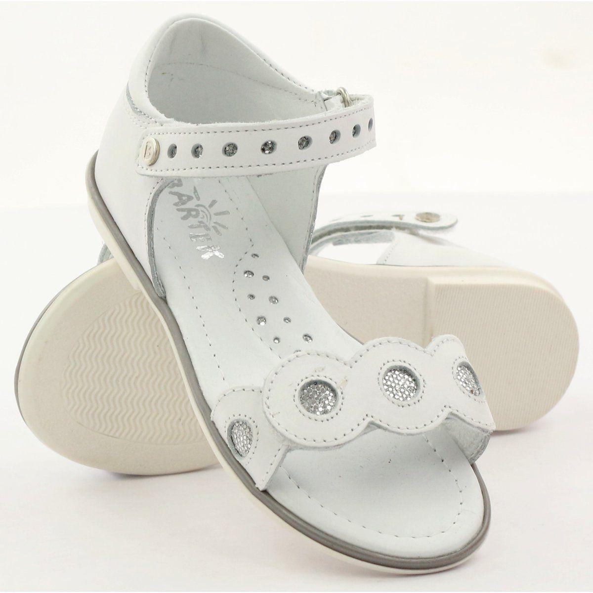 Sandalki Dziewczece Bartek Srebrne Kolka Biale Szare Shoes Sandals Fashion