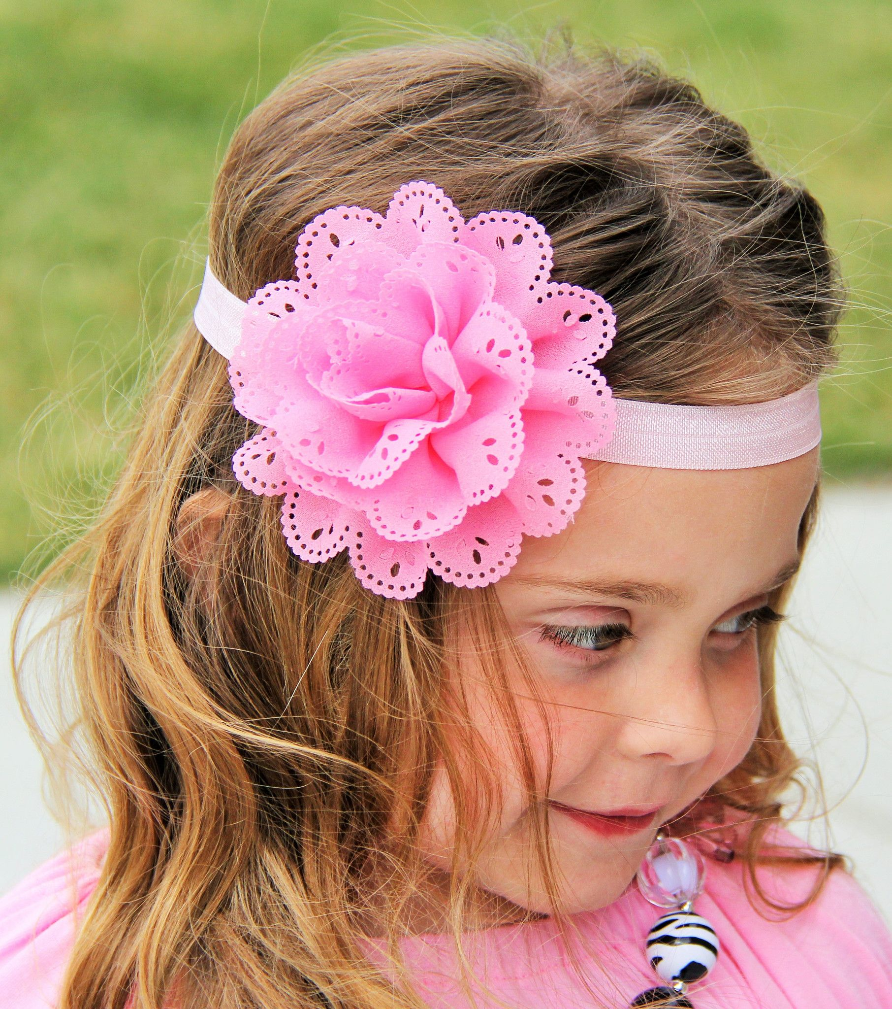 The Kayla Flower Headband Sparkle In Pink Susie Q