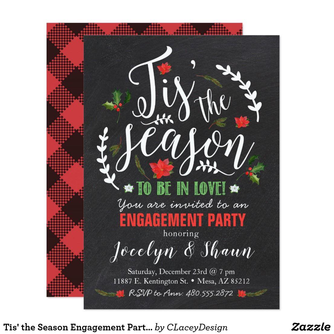 Tis\' the Season Engagement Party Invitation | Pinterest | Engagement ...