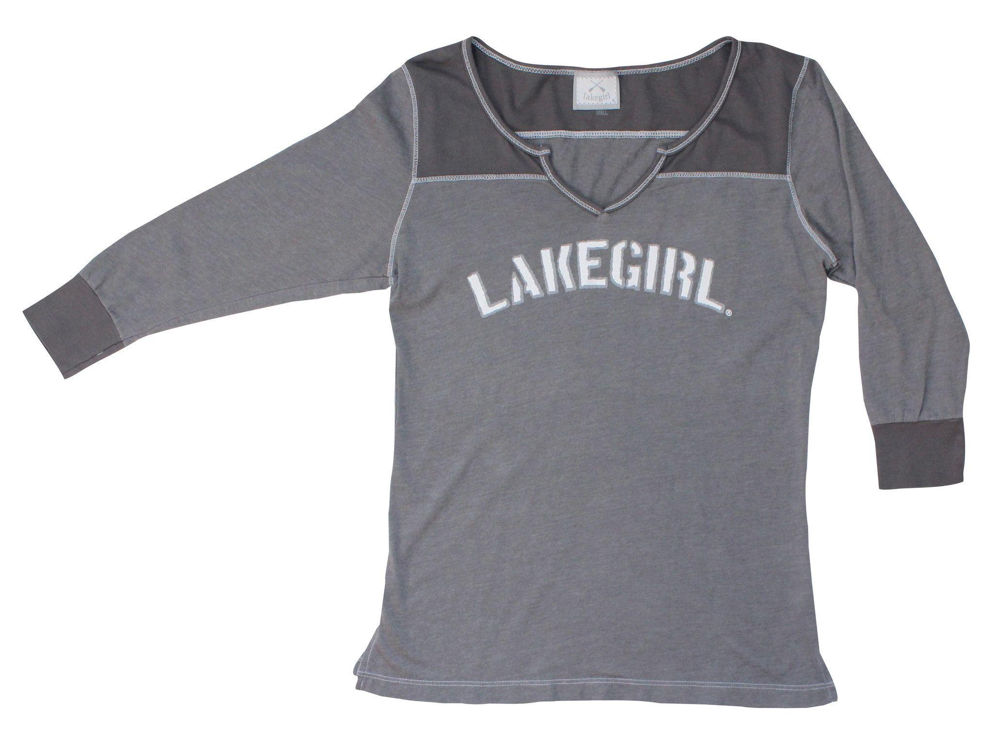 Lakegirl 3/4 sleeve jersey tee shirt