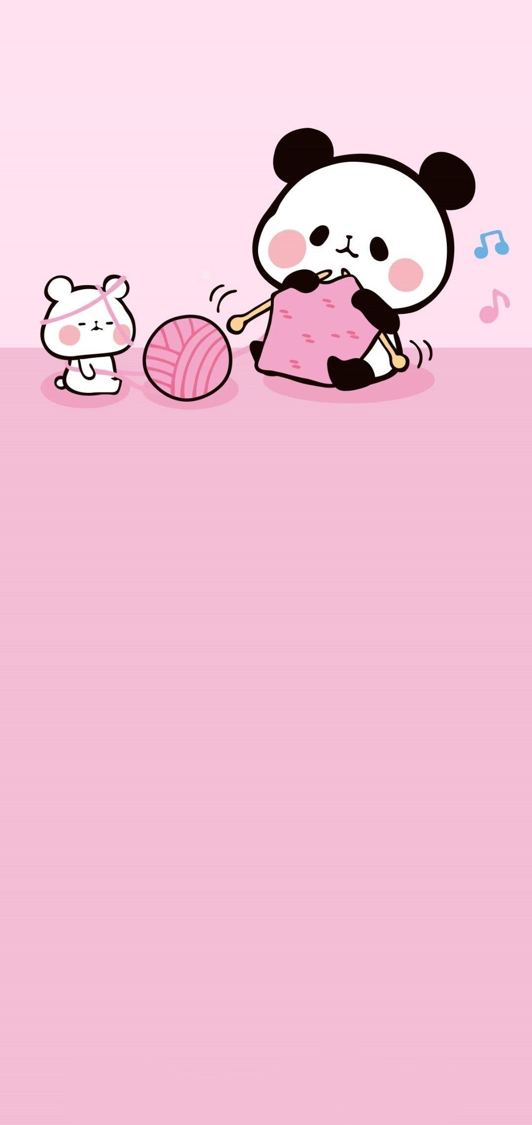 Pin Oleh Patty Silva Di Pink Backgrounds Ilustrasi Karakter Gambar Lucu Ilustrasi Cute pink panda wallpaper for cellphone