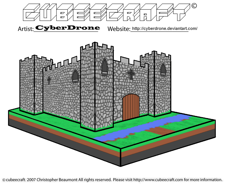 Cubeecraft - Castle by CyberDrone on DeviantArt