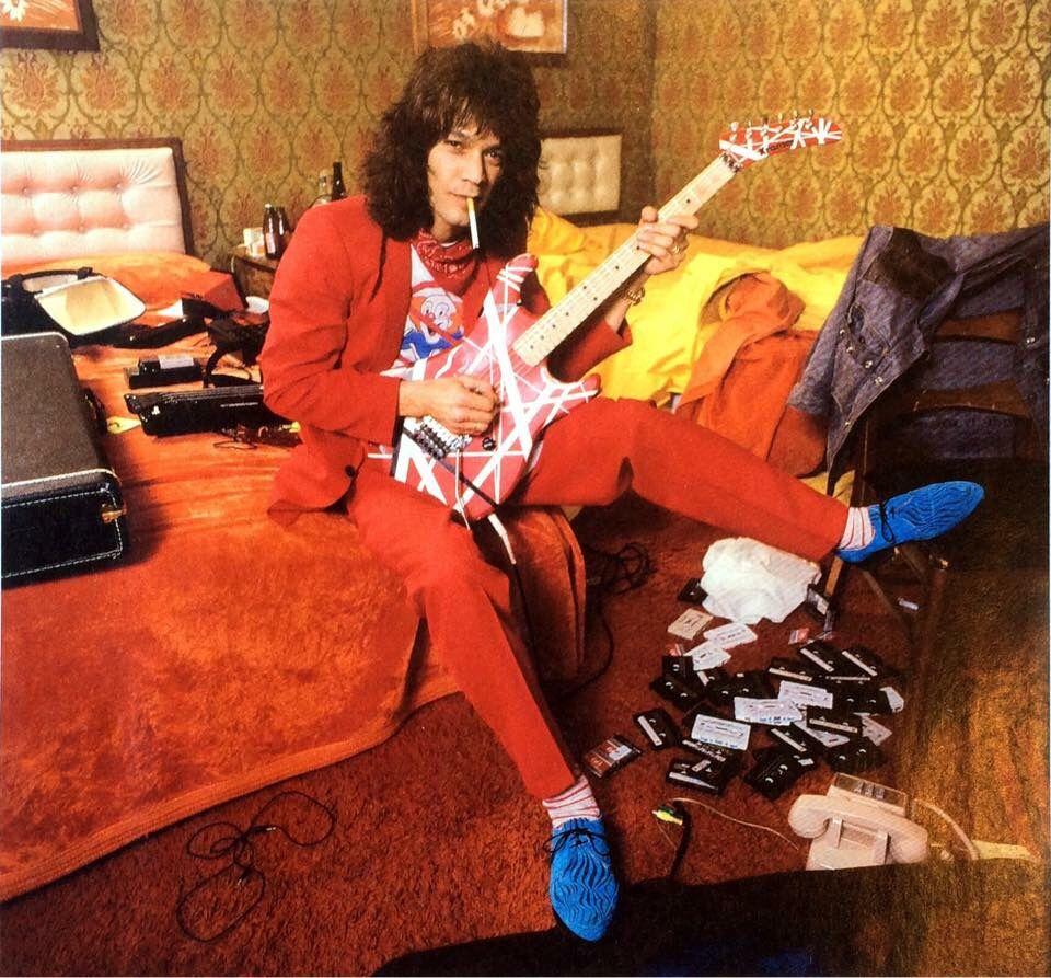 Evh In A Cincinnati Hotel Room 1984 Van Halen Eddie Van Halen Michael Anthony Van Halen