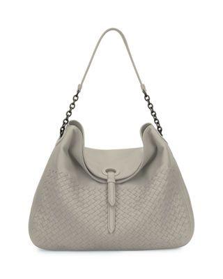 d540e1f887fb Bottega Veneta Intrecciato Cervo Flap-Top Hobo Bag | Products | Bags ...