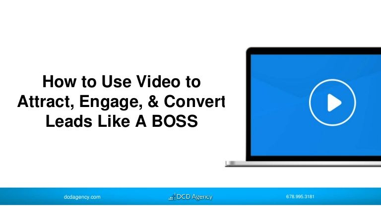 Attract, engage, convert, visitors into leads and leads into customers with #videocontentmarketing #videomarketing