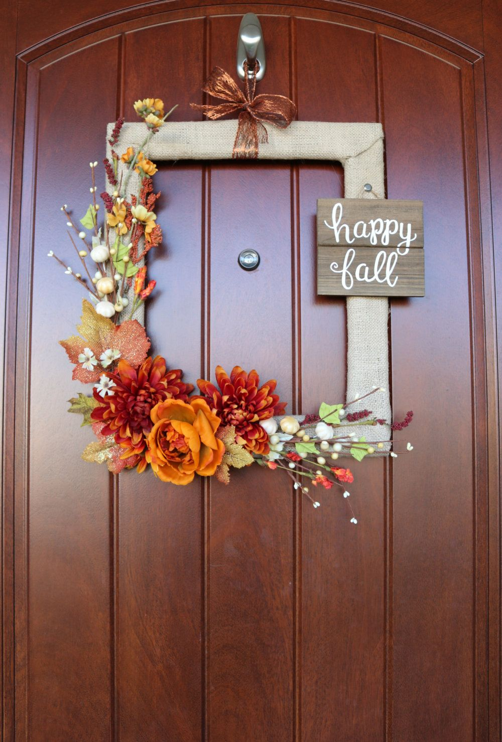 How to Make a Fall Wreath from a Thrifted Picture Frame