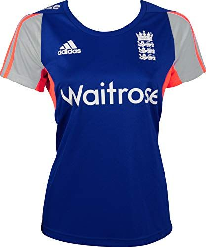 3b33a800ddd4 Adidas Ecb England Short Sleeve Womens Cricket Training Top - Blue Cricket  Store