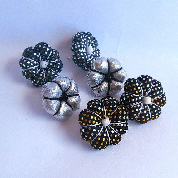 Techie+Earrings+Party+Earrings+Flower+Post+Earrings+by+FabricTwist