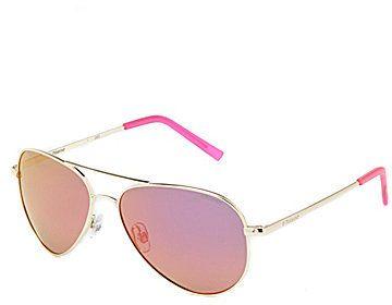 Polaroid Polarized Mirror Double Bridge Metal Aviator Sunglasses - $65.00