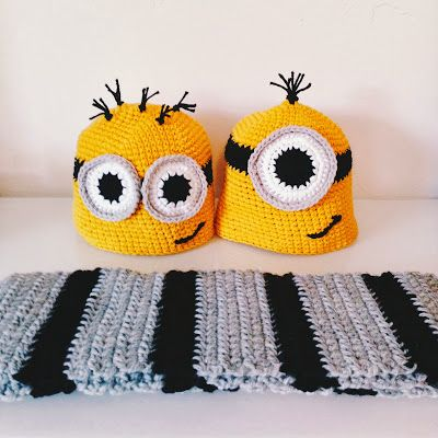 FREE Minions and Gru Scarf pattern! #crochet #halloween #minions ...