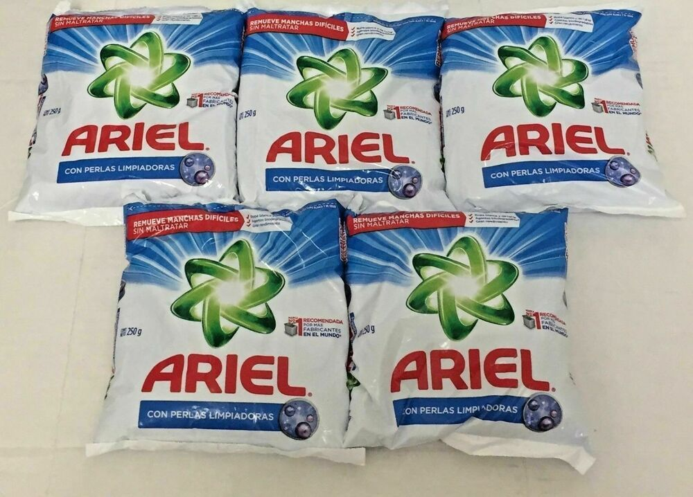 Ariel Powder Laundry Detergent Five Packs Of 250 G Each One Free