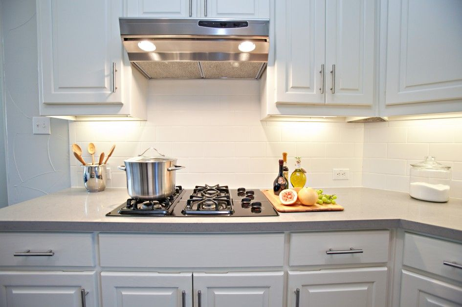 White Subway Tile Kitchen Backsplash Pictures Harmonizing