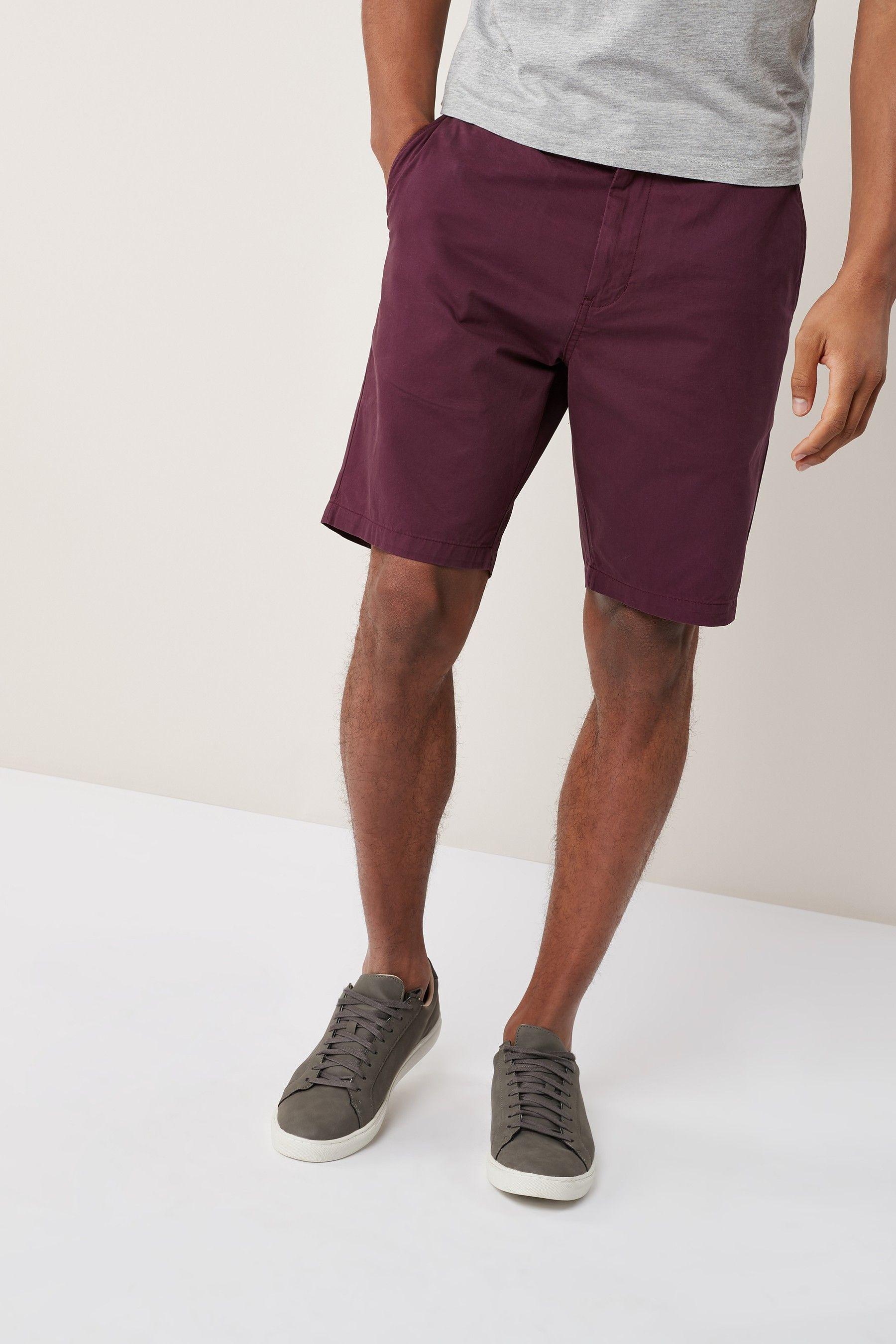 03e7b06ce0 Mens Next Burgundy Chino Shorts - Red | Men's Burgundy Shorts in ...