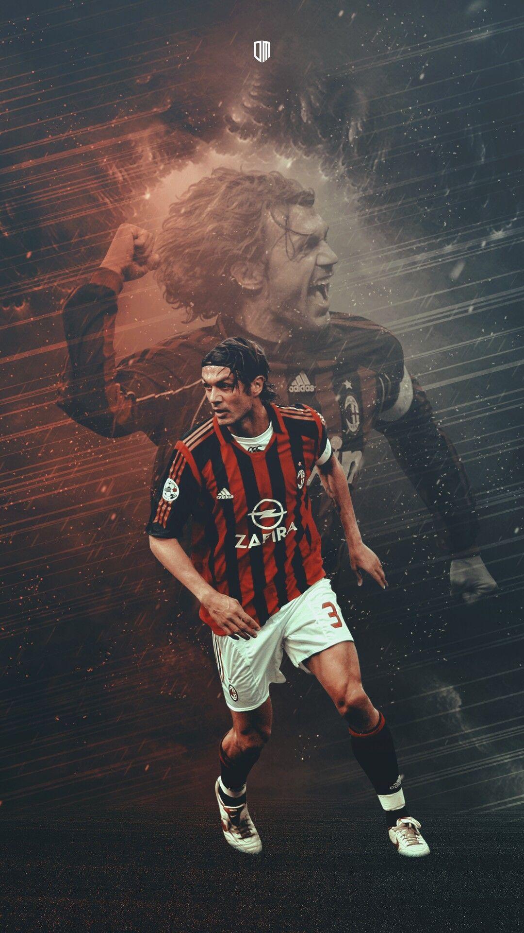 Paolo Maldini Football Legend Milan Foto Di Calcio Squadra Di Calcio Calcio