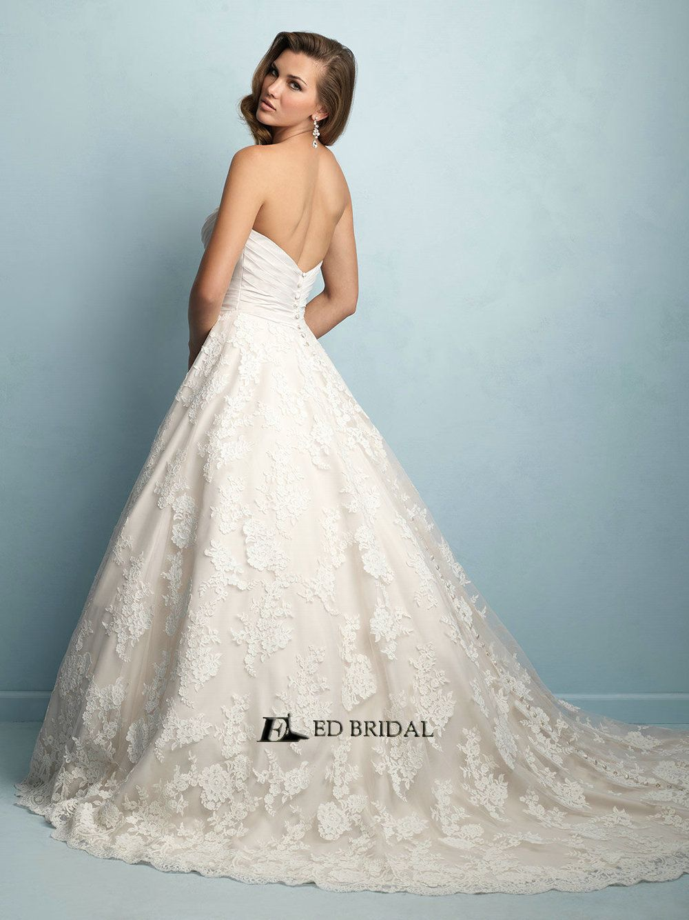 Ed Yh2260 Vestidos De Novias Lace Liqued Pleated Beaded Ball Gown Wedding Clothes View