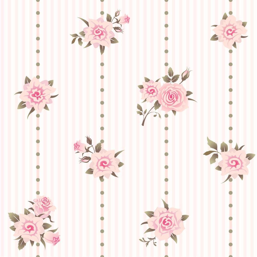 Papel de parede autocolante flores bolinhas listrado - Papel vintage pared ...