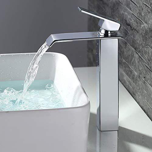 Homelody Wasserfall Wasserhahn Bad Hoch Badarmatur Waschtischarmatur Chrom Waschbecken Armatur Mischbatterie Fur In 2021 Armaturen Bad Waschbecken Armaturen Wasserhahn