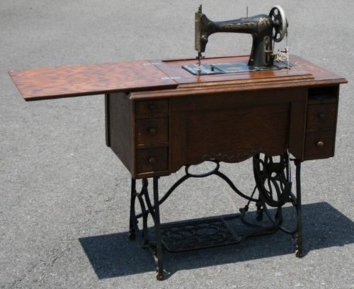Antique MINNESOTA Sewing Machine W Cabinet Cast Iron Treadle Base Extraordinary Minnesota Sewing Machine Parts