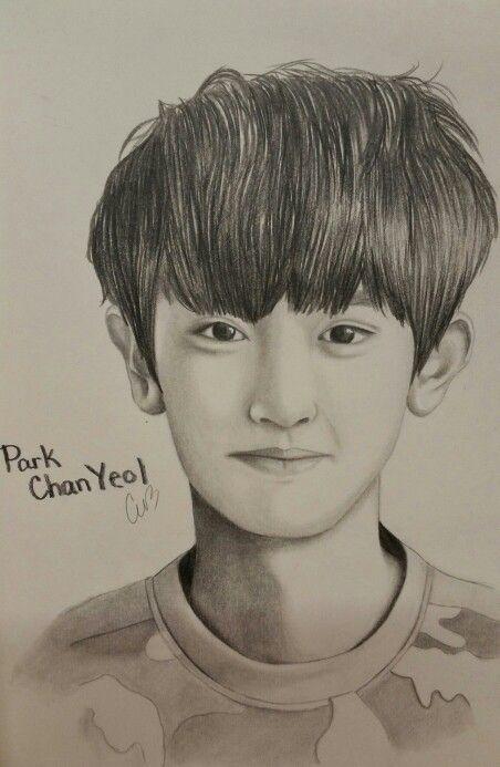 Pin By Premarsha On Fanart Kpop Drawings Exo Drawing Bff Drawings