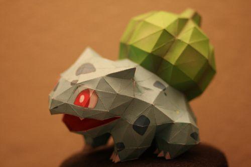 Paper Craft Pokemon Bulbasaur Old Skool Pinterest Origami