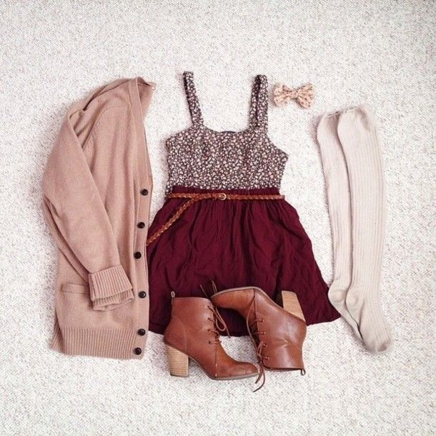 Dress Skirt Shirt Shoes Cardigan Sweater Underwear Vintage Fashion Hipster High Waisted Crop Tops