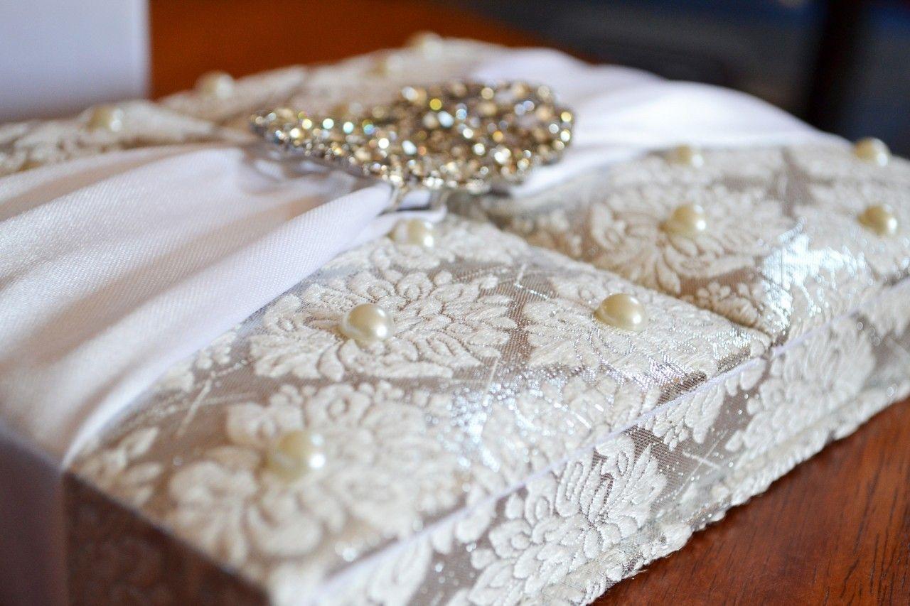 Pearl White Silk Folio Invitation | Invites | Pinterest | White silk ...