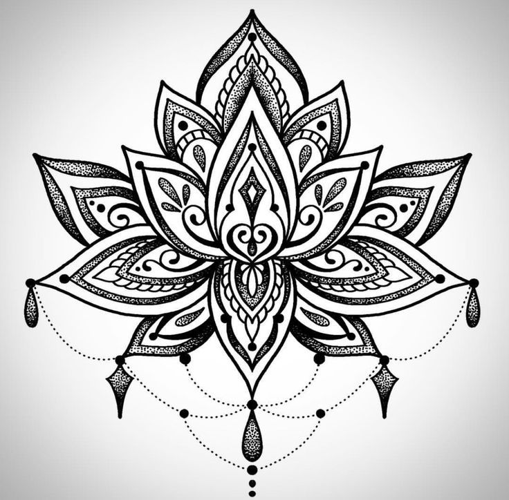 лотос цветок рисунок тату реконструкция