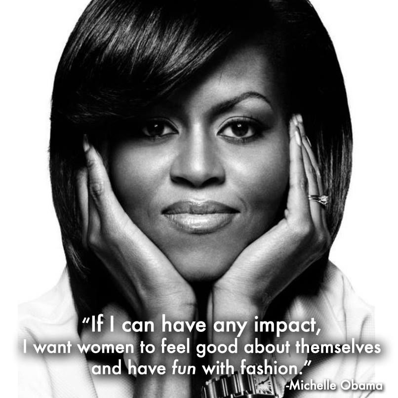 If I can have any impact, I want women to feel good about - michelle obama resume