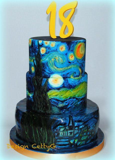 Le torte decorate di cetty g la notte stellata cake 18 for La notte stellata