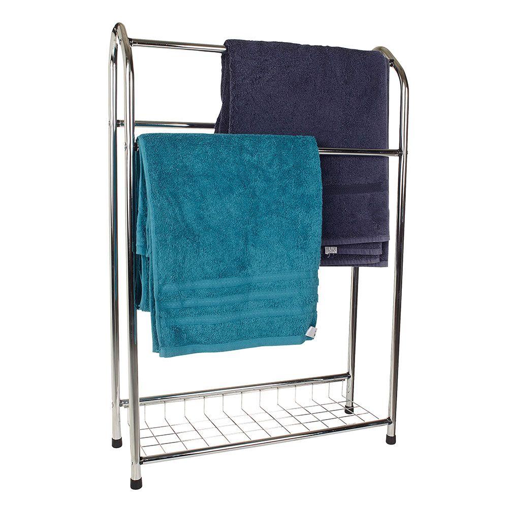 10821 Eic2034 East India Chrome Towel Stand 1