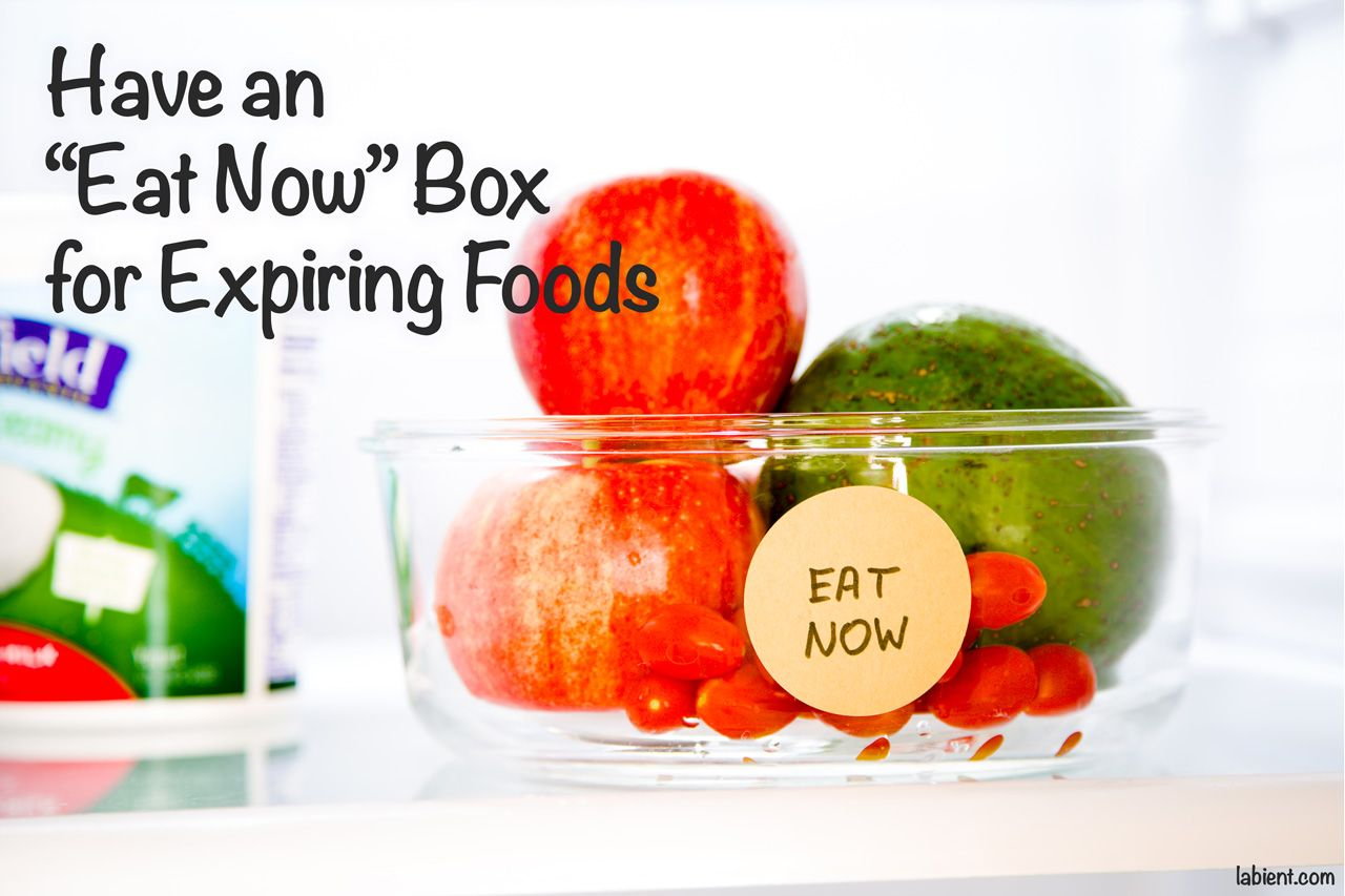 Eat Now foods container in the refrigerator