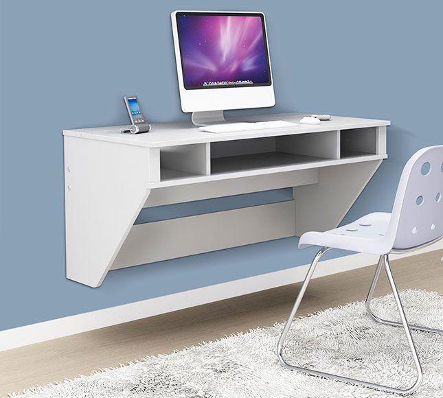 21 Space Saving Wall Mounted Desks To Buy Or Diy My New Room Mobiliario Para Economizar Espaco Moveis Pequenos