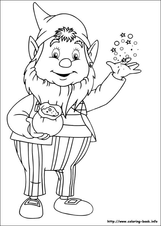 Noddy Coloring Picture Cartoon Coloring Pages Christmas