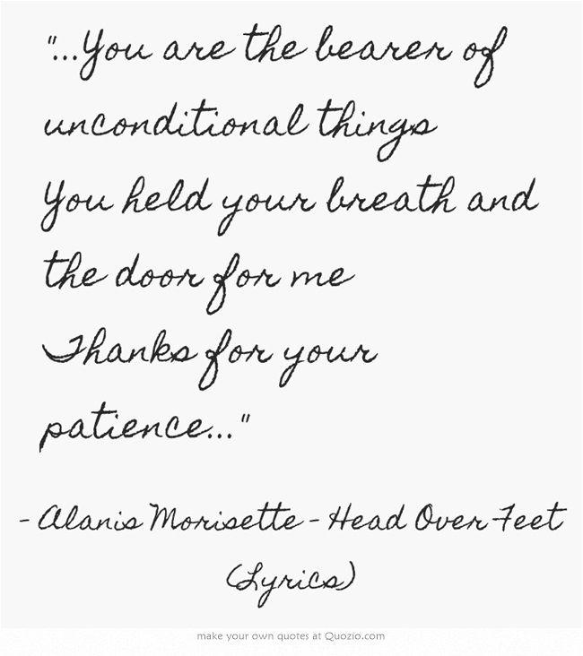 Alanis Morisette Head Over Feet Lyrics Song Lyric Quotes