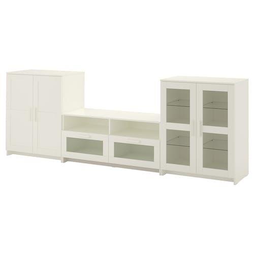 Brimnes Combinaison Rangt Tv Vitrines Blanc Ikea Brimnes Armoire Avec Portes Vitrees Ikea