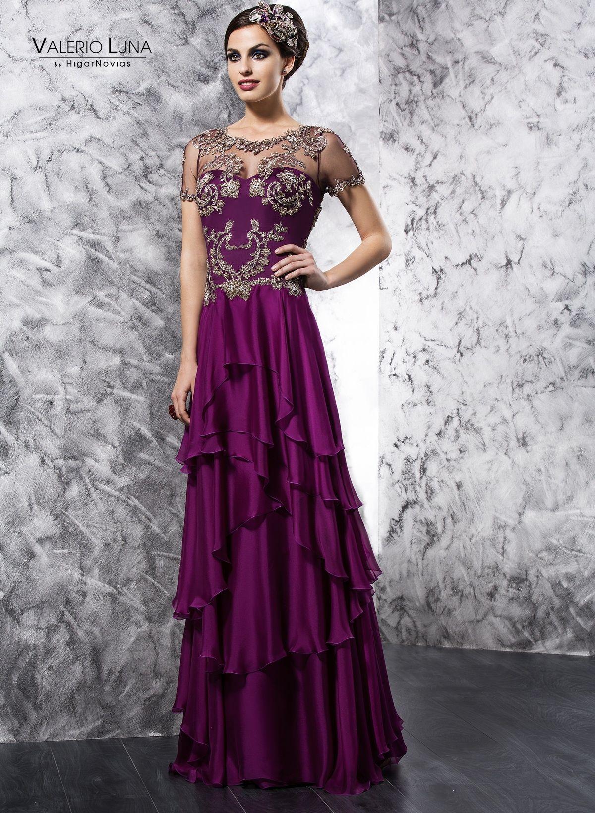 Colección 2014 de Valerio Luna, vestido en gasa, seda y pedrería ...