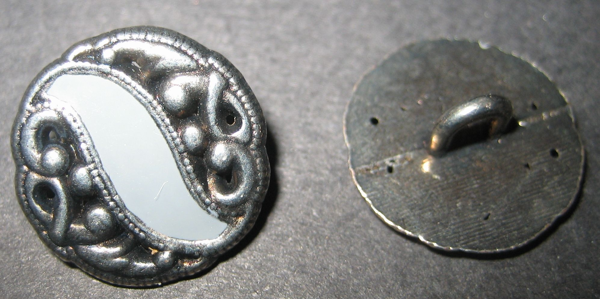 Vintage metal button from my sewing bokses.