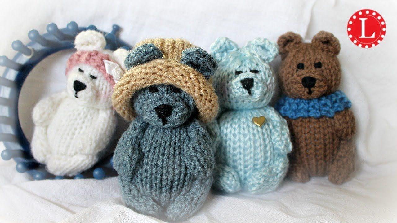 Teddy Bear on a Loom (Round 24-peg) | Loomahat Dolls Tiny ...