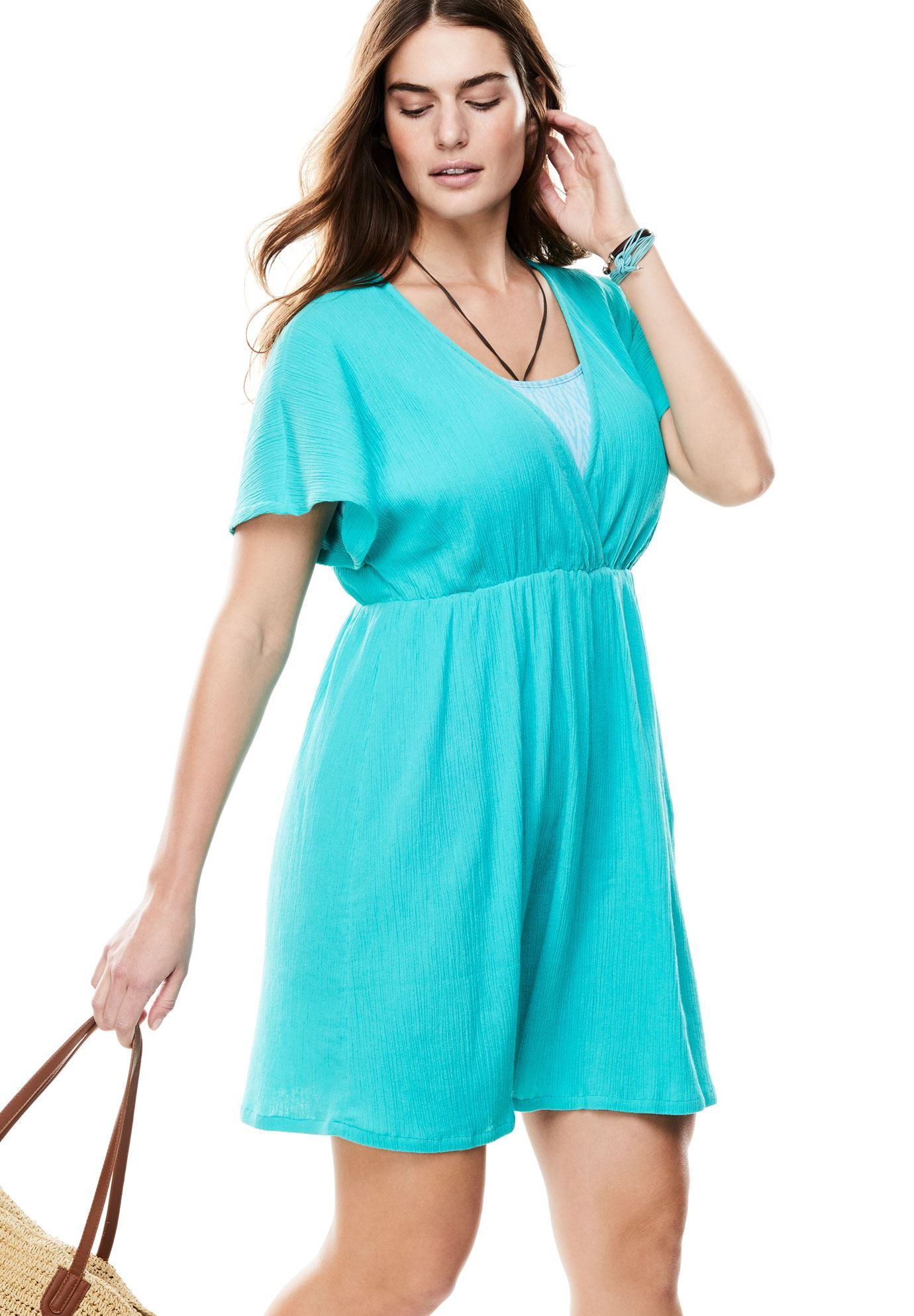 62c7b6e7ad1ea Plus Size Swim Dress Cover Up