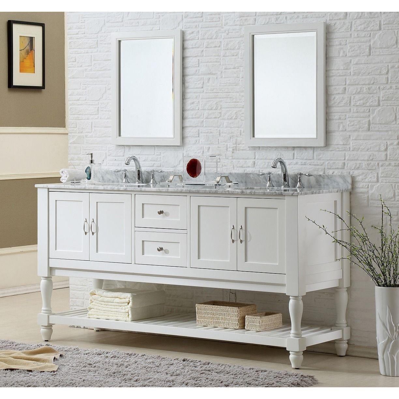 Direct Vanity Sink 70 Inch Mission Turnleg Double Vanity Sink